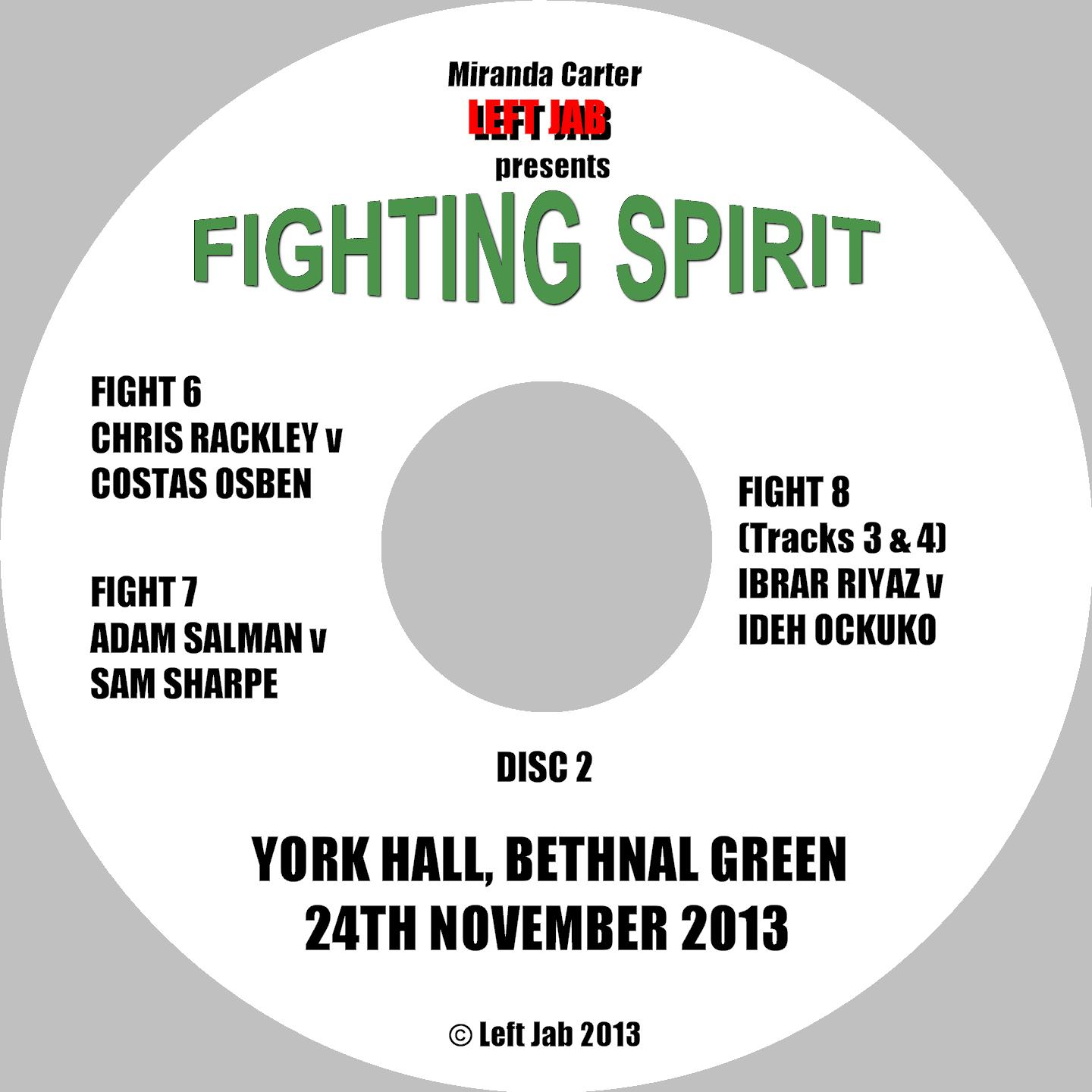 Fighting Spirit DVD