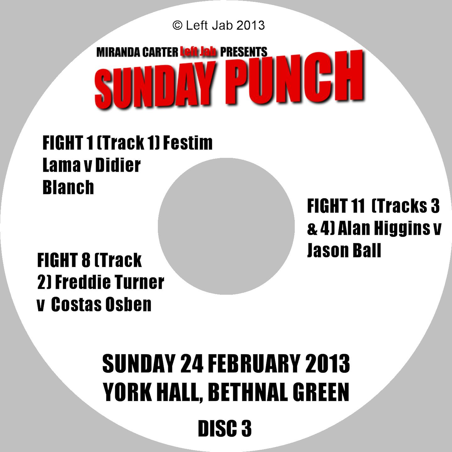 Sunday Punch DVD