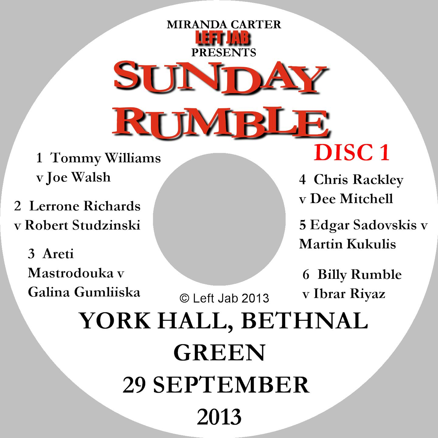 Sunday Rumble DVD