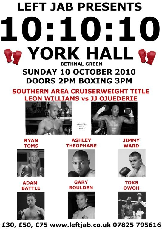 York Hall 10th October 2010