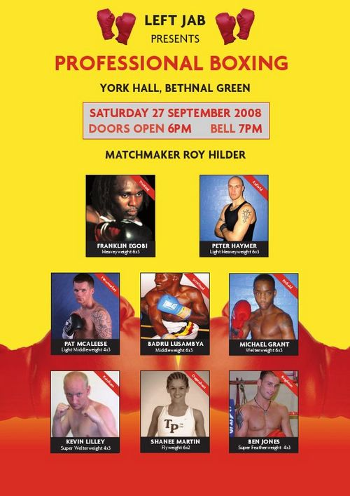 York Hall 27th September 2008
